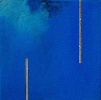 "Meditation #27, acrylic with diamond dust, 6""x6"", 2001"